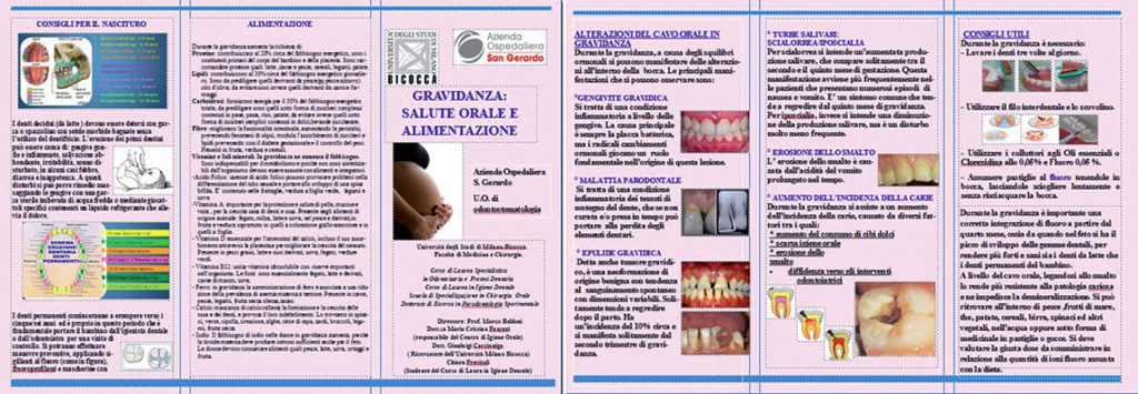 Brochure distribuita alle pazienti.