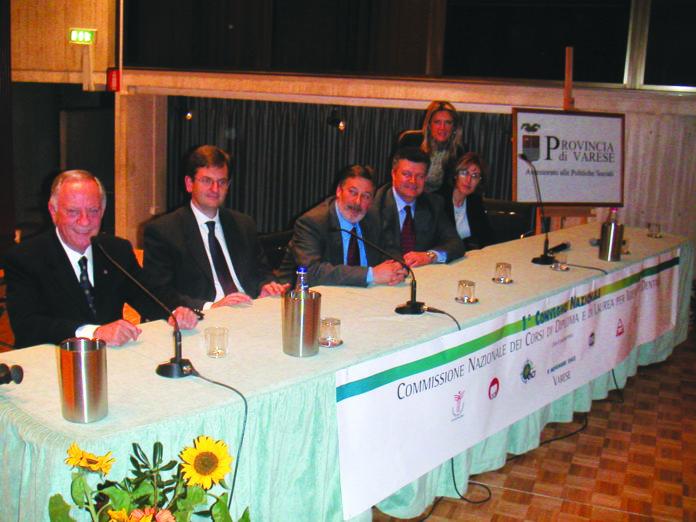 Mario Giannoni in occasione del Congresso Nazionale della Commissione dall'Università dell'Insubri